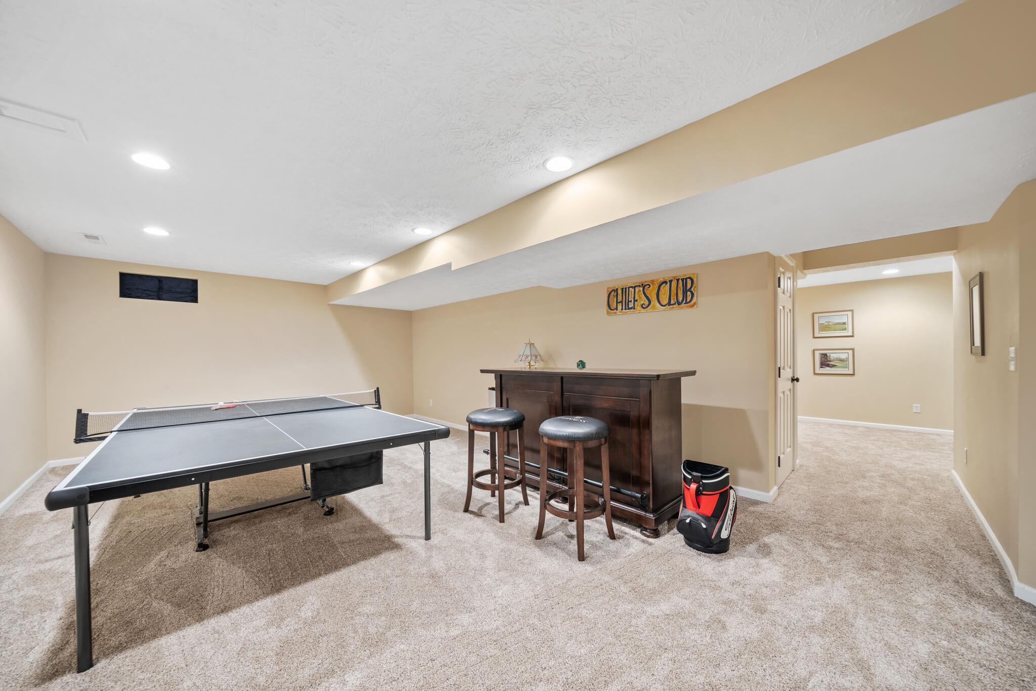 Entertaining area downstairs
