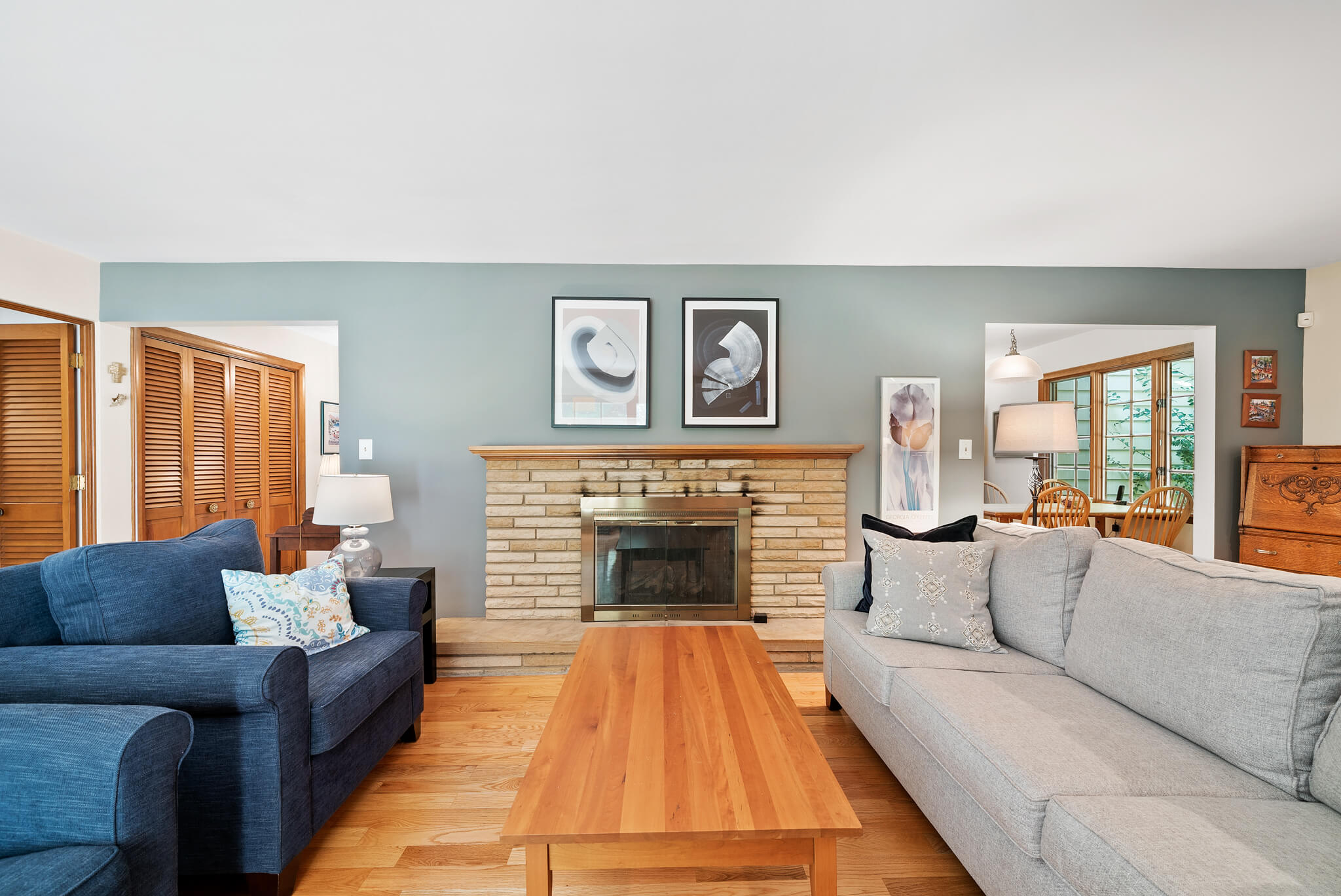Stone fireplace at 4349 Orandale Dr in Chagrin Falls